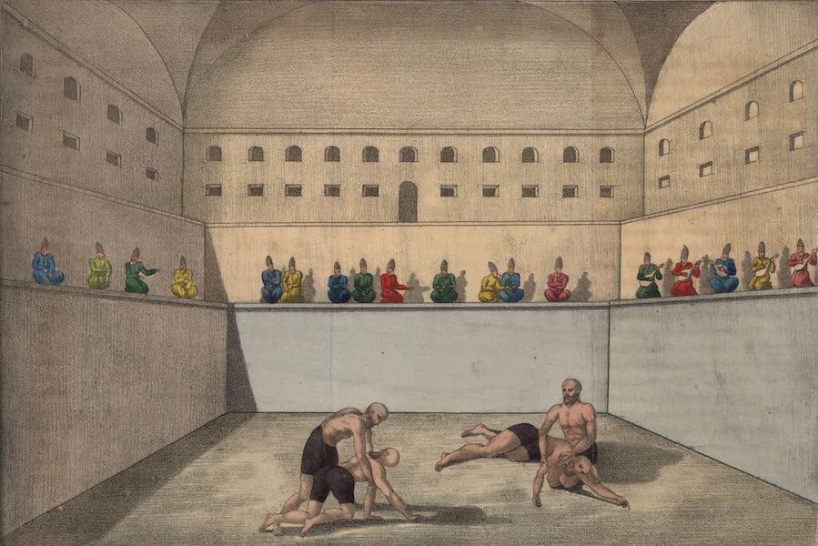 Voyage en Perse Vol. 2 - Athletes luttant (1825)