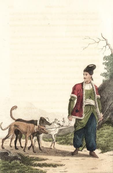 Voyage en Perse Vol. 2 - Chasseur conduisant des chiens (1825)