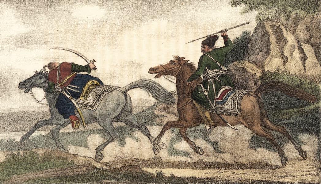 Voyage en Perse Vol. 2 - Afchard courant au galop apres un Turc (1825)