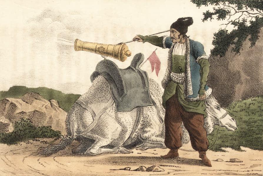 Voyage en Perse Vol. 2 - Zombarek dechargeant sa piece sur un chameau (1825)