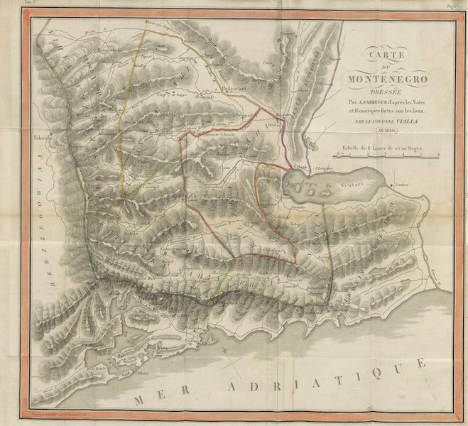 Voyage Historique et Politique au Montenegro - Carte du Montenegro (1820)