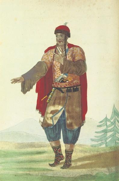 Voyage Historique et Politique au Montenegro - Costume du Gouverneur du Montenegro (1820)