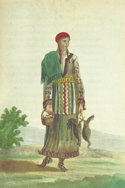 Voyage Historique et Politique au Montenegro - Femme du Montenegro (1820)