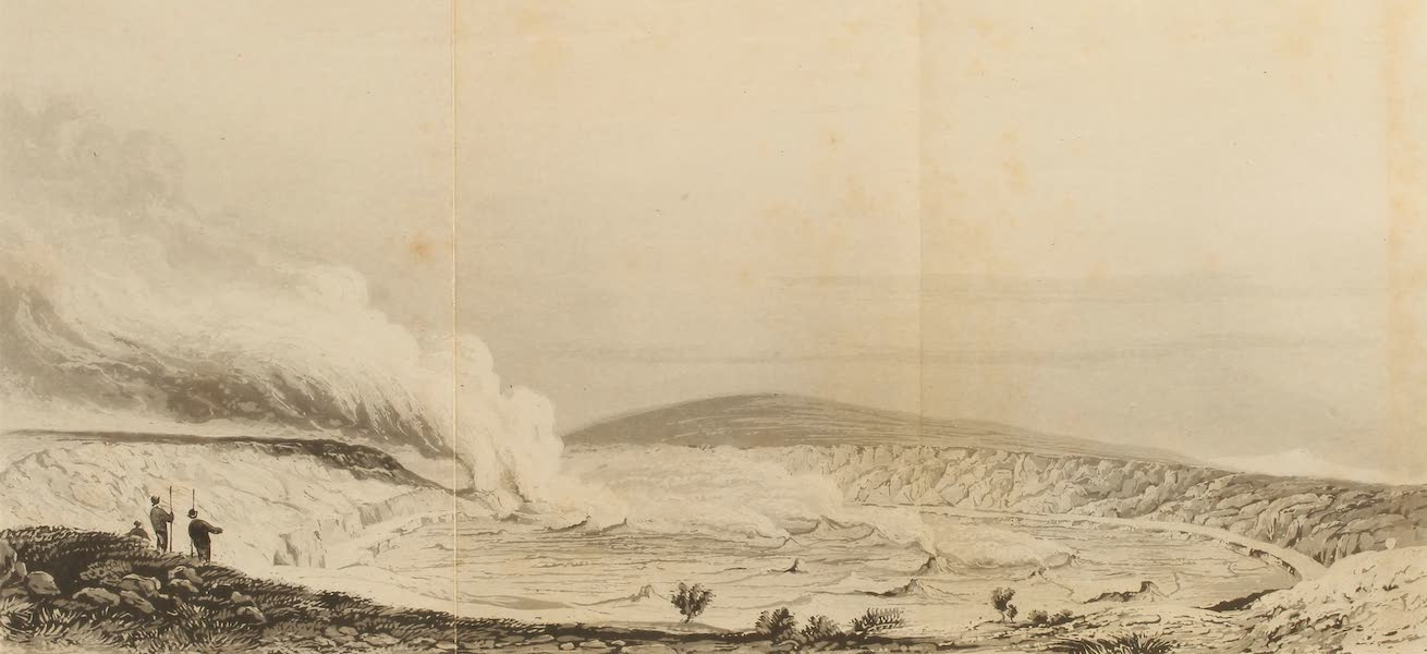 Voyage of H.M.S. Blonde to the Sandwich Islands - Great volcano of Peli, at Hawaii (1826)