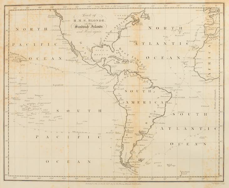 Voyage of H.M.S. Blonde to the Sandwich Islands - Track of H.M.S. Blonde (1826)