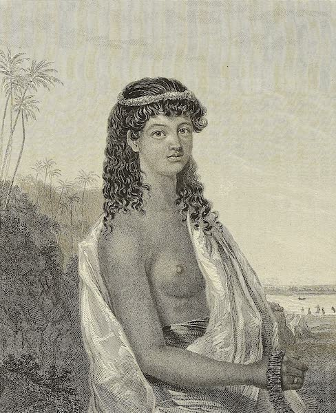 Voyage of H.M.S. Blonde to the Sandwich Islands - Native Girl of The Sandwich Islands (1826)