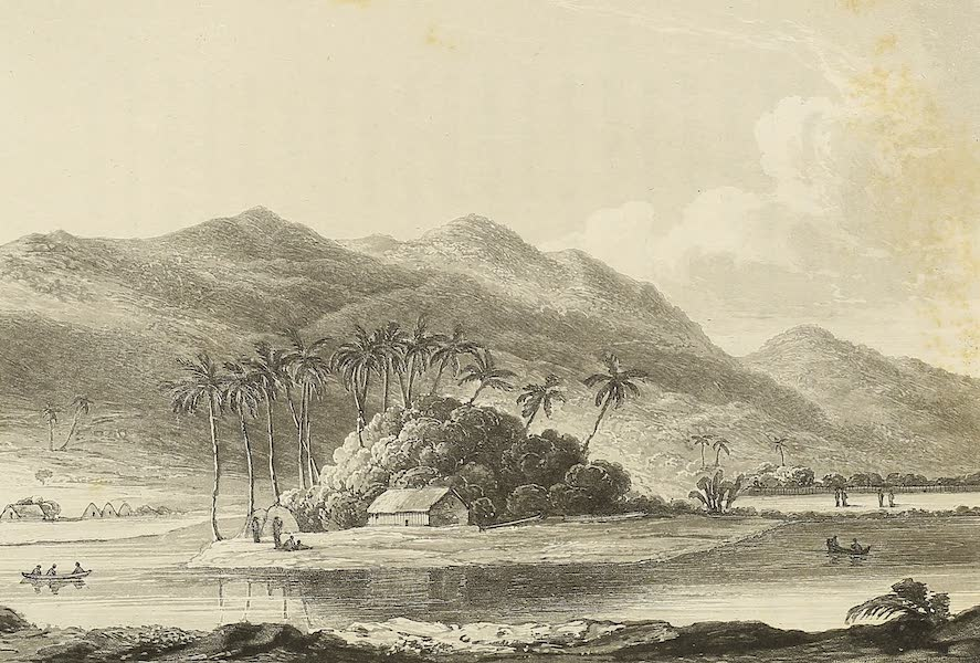 Voyage of H.M.S. Blonde to the Sandwich Islands - View near Honoruru, Oahu (1826)