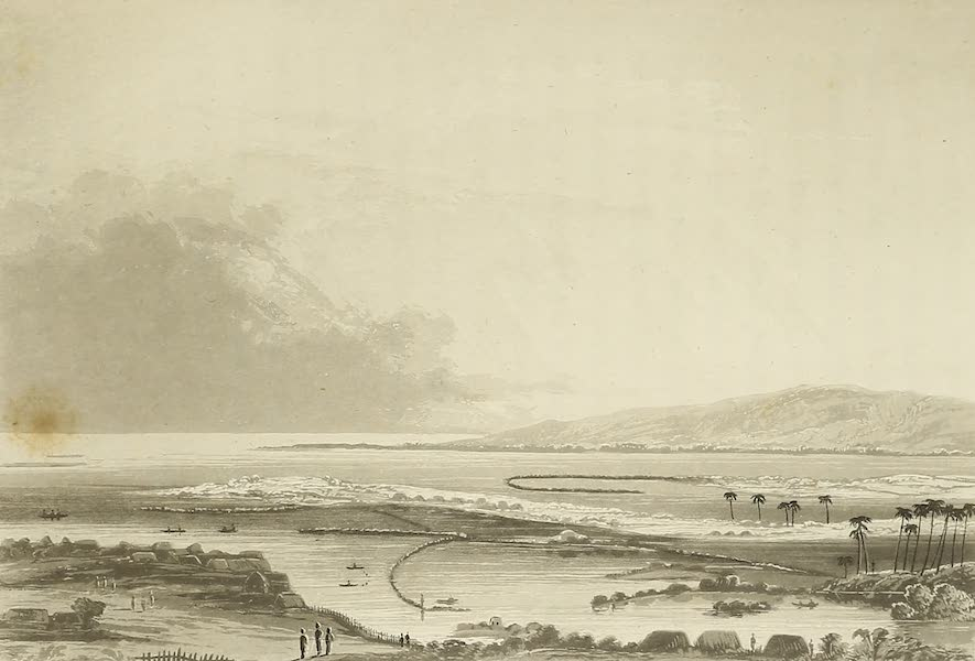Voyage of H.M.S. Blonde to the Sandwich Islands - Fish ponds at Honoruru, Oahu (1826)