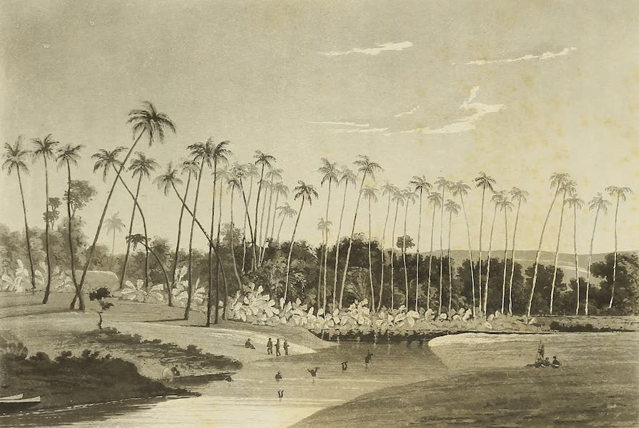 Voyage of H.M.S. Blonde to the Sandwich Islands - Waikeba River in Byron Bay (1826)