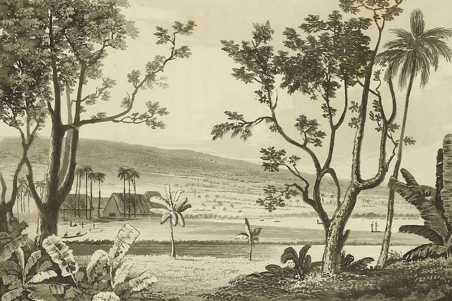 Voyage of H.M.S. Blonde to the Sandwich Islands - Missionary house in Byron Bay (1826)