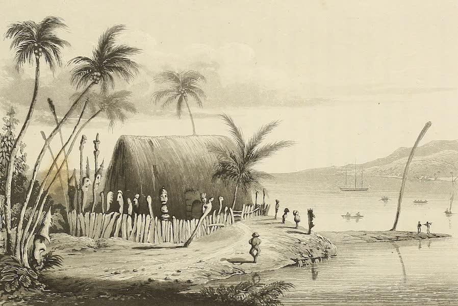 Voyage of H.M.S. Blonde to the Sandwich Islands - Morai near Karakakooa (1826)