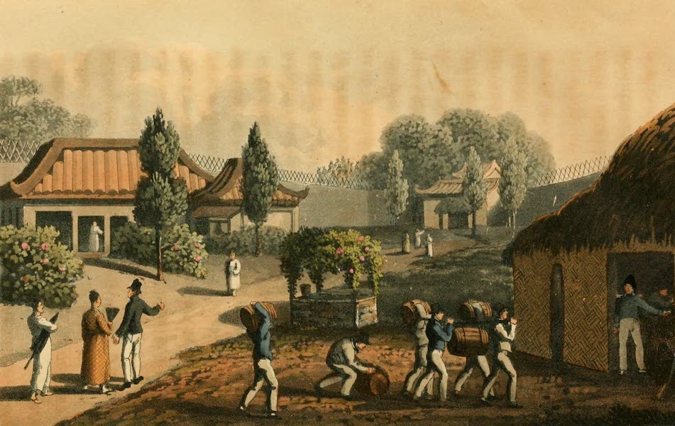 Narrative of a Voyage, in His Majesty's late ship Alceste - Garden of the Tempe at Lewchew (1818)