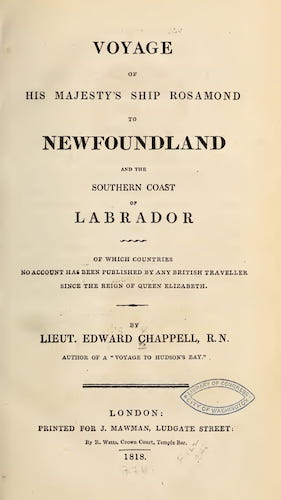 Voyage of His Majesty's Ship Rosamond to Newfoundland