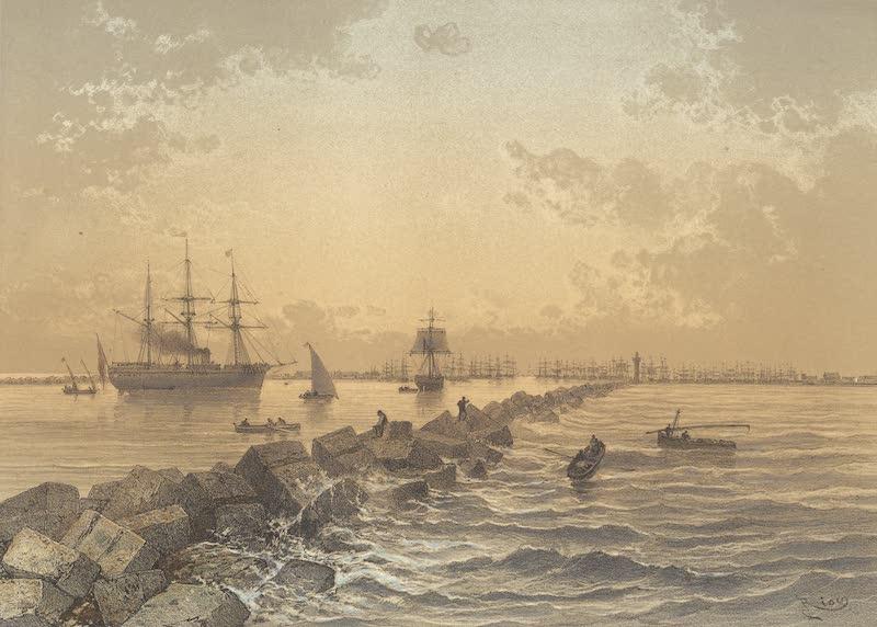 Voyage Pittoresque a Travers l'Isthme de Suez - Entree de Port Said (1870)