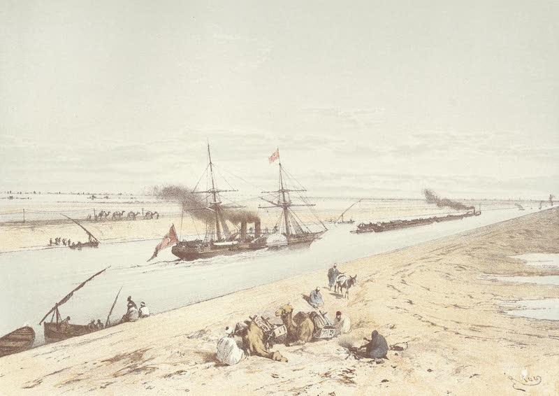 Voyage Pittoresque a Travers l'Isthme de Suez - Le Canal maritime a travers le lac Menzaleh (1870)