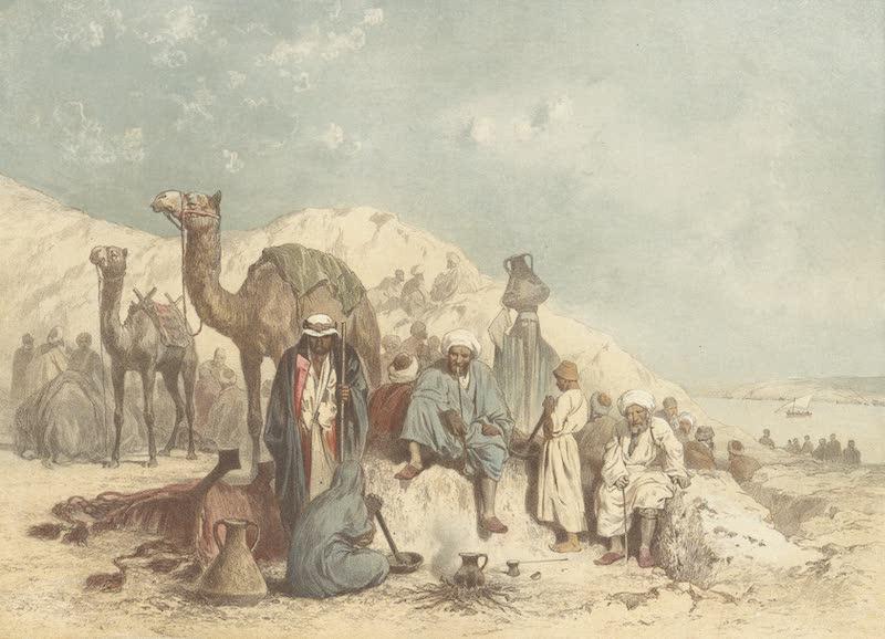 Voyage Pittoresque a Travers l'Isthme de Suez - Caravanes attendant le bac a Kantara (1870)
