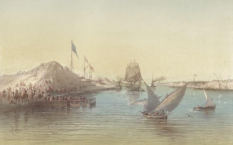 Voyage Pittoresque a Travers l'Isthme de Suez - Vue de Kantara (1870)
