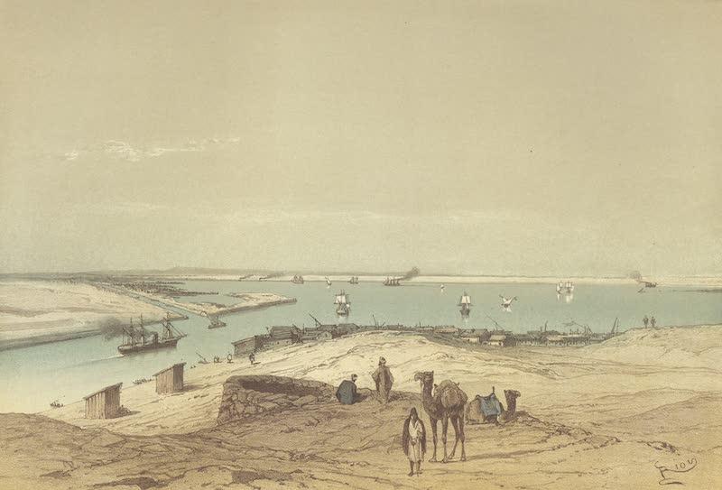 Voyage Pittoresque a Travers l'Isthme de Suez - Le lac Timsah, vu du chalet du Vice-Roi (1870)