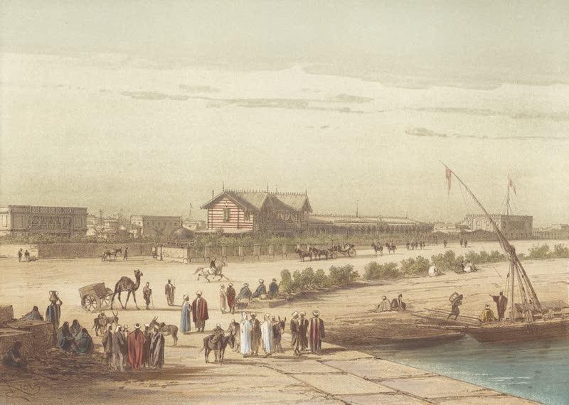 Voyage Pittoresque a Travers l'Isthme de Suez - Quai d'Ismailia (1870)