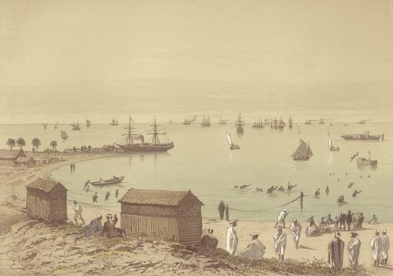 Voyage Pittoresque a Travers l'Isthme de Suez - Les bains de mer et la flottille sur le lac Timsah (Ismailia) (1870)