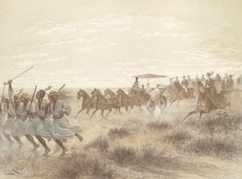 Voyage Pittoresque a Travers l'Isthme de Suez - Cavalcade au desert (1870)