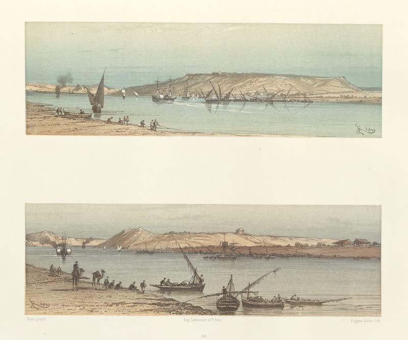 Voyage Pittoresque a Travers l'Isthme de Suez - Gebel Mariam a Toussoum (1870)