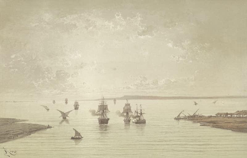 Voyage Pittoresque a Travers l'Isthme de Suez - Entree des lacs Amers (1870)