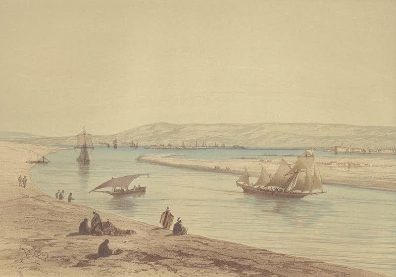Voyage Pittoresque a Travers l'Isthme de Suez - Suez, vue prise du canal maritime (1870)