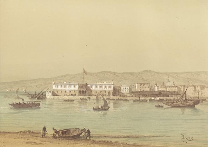 Voyage Pittoresque a Travers l'Isthme de Suez - Le quai de Suez; arrivee de la malle des Indes (1870)
