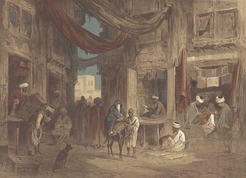 Voyage Pittoresque a Travers l'Isthme de Suez - Une rue au bazar de Suez (1870)