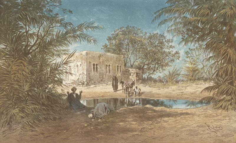 Voyage Pittoresque a Travers l'Isthme de Suez - Fontaines de Moise (1870)