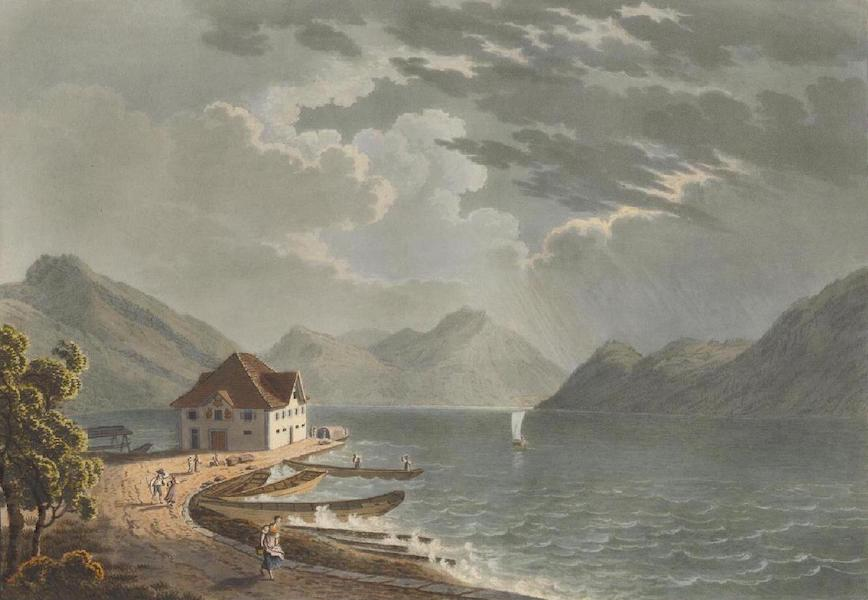 Voyage Pittoresque au Lac des Waldstettes ou des IV Cantons - Vue du Golfe d'Alpnach (1817)