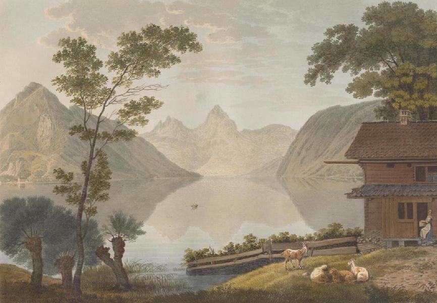 Voyage Pittoresque au Lac des Waldstettes ou des IV Cantons - Vue prise de Bekenried vers Schwytz (1817)