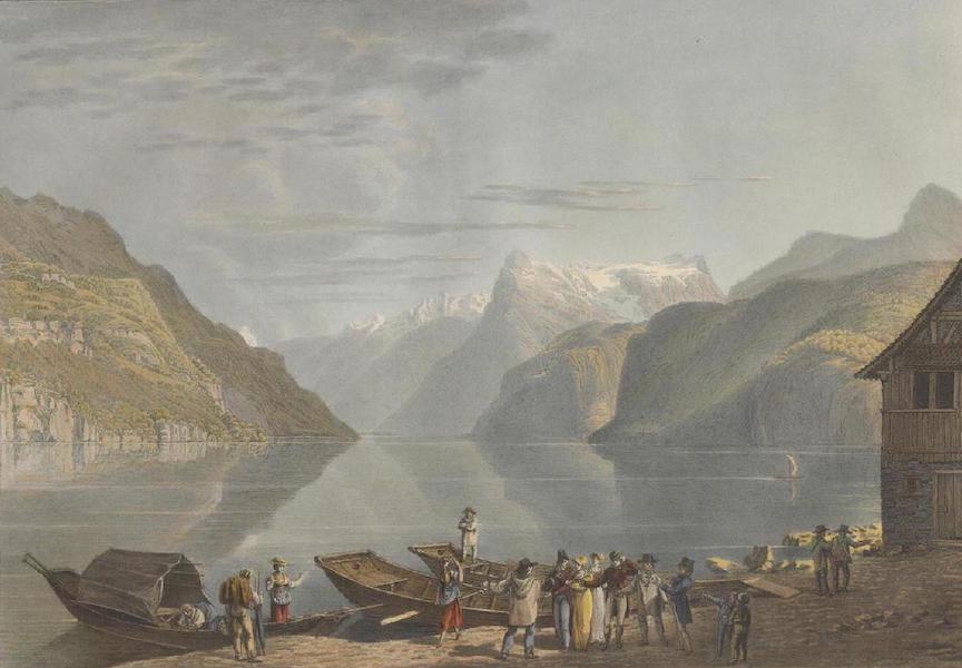 Voyage Pittoresque au Lac des Waldstettes ou des IV Cantons - Vue prise de Brunnen vers le Canton d'Ury (1817)