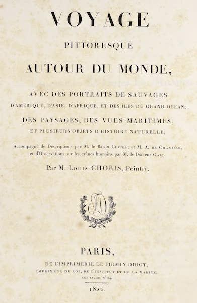 Voyage Pittoresque Autour de Monde - Title Page (1822)