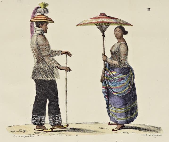 Voyage Pittoresque Autour de Monde - Costumes des Malais de l'ile de Luzon (1822)