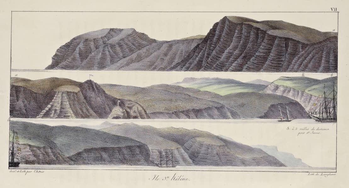 Voyage Pittoresque Autour de Monde - Ile Ste. Helene (1822)