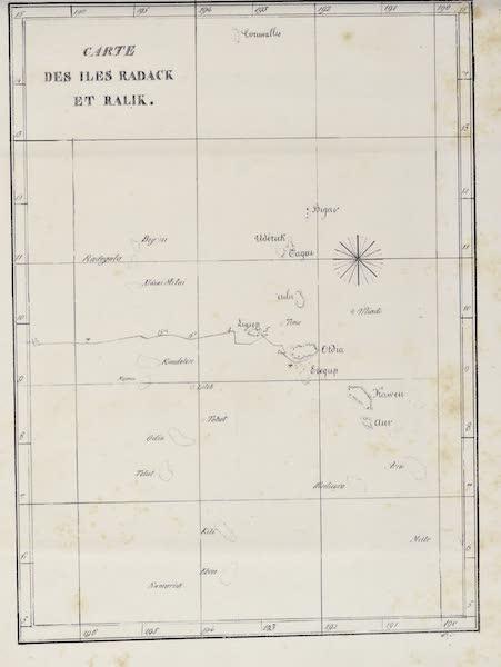 Voyage Pittoresque Autour de Monde - Carte des Iles Radak et Ralik (1822)