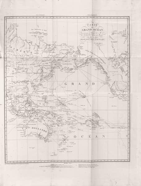 Voyage Pittoresque Autour de Monde - Carte du Grand Ocean (1822)