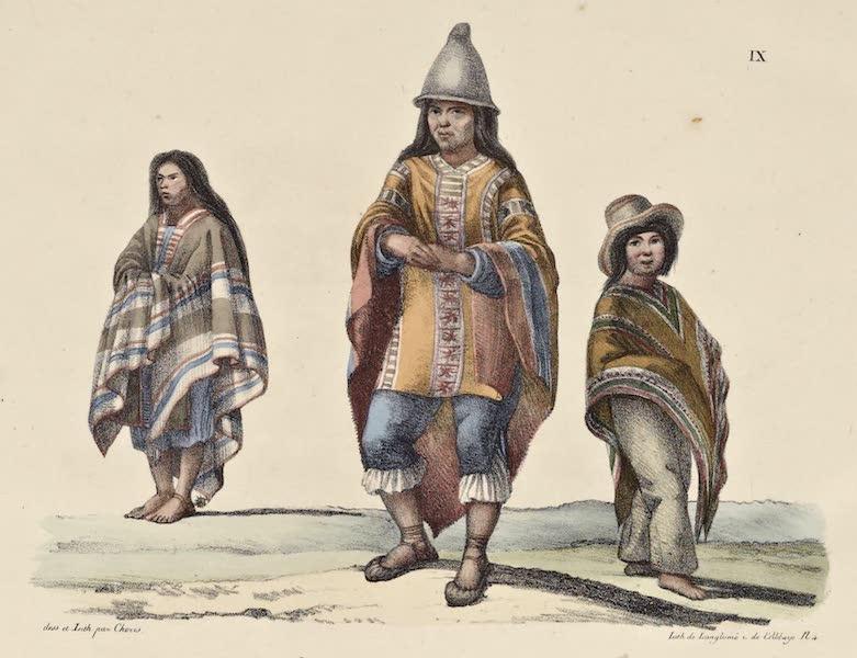 Voyage Pittoresque Autour de Monde - Habillement du peuple du Chili (1822)