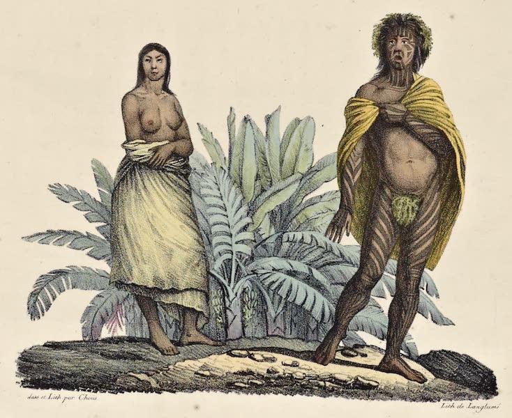Voyage Pittoresque Autour de Monde - Habitans de l'isle de Pasques (1822)