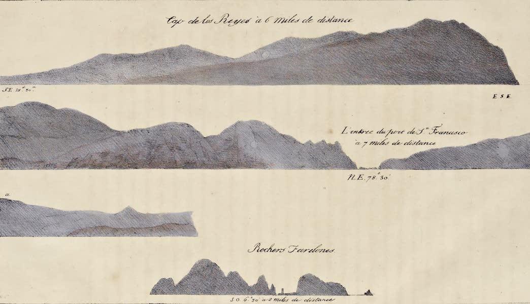 Voyage Pittoresque Autour de Monde - Cap de los Reynes a 6 miles de distance (1822)
