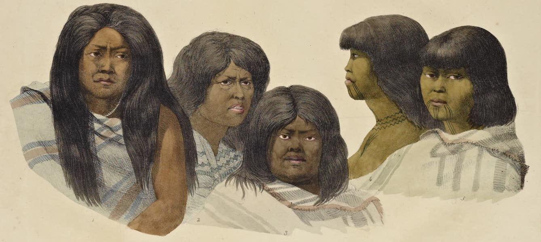 Voyage Pittoresque Autour de Monde - Habitants de Californie. (femmes) (1822)