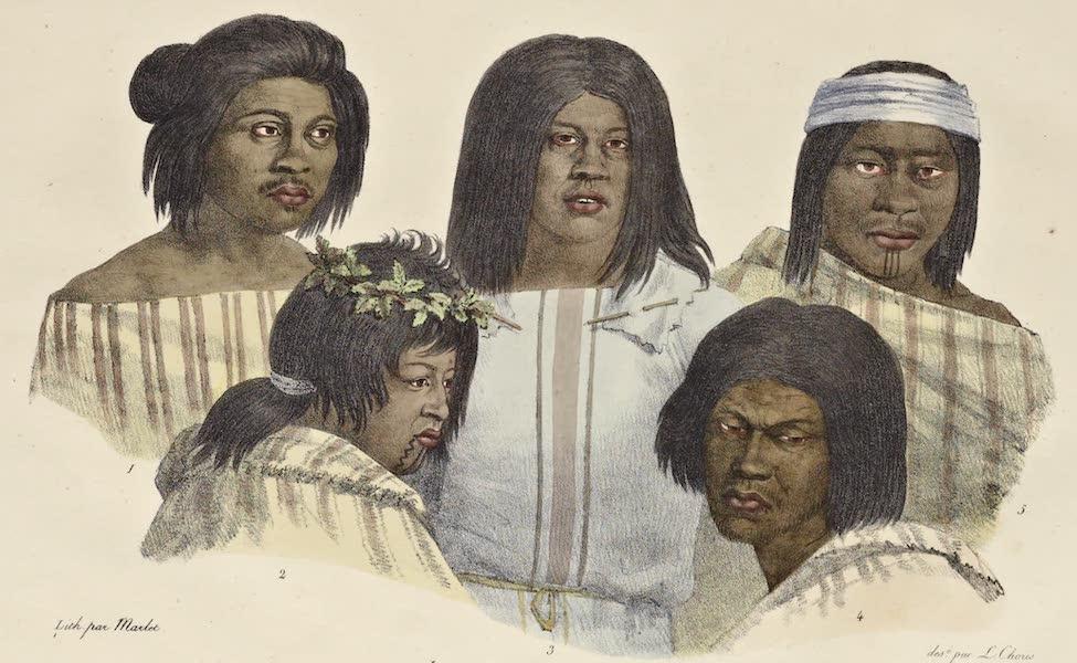Voyage Pittoresque Autour de Monde - Habitants de Californie. (hommes) (1822)