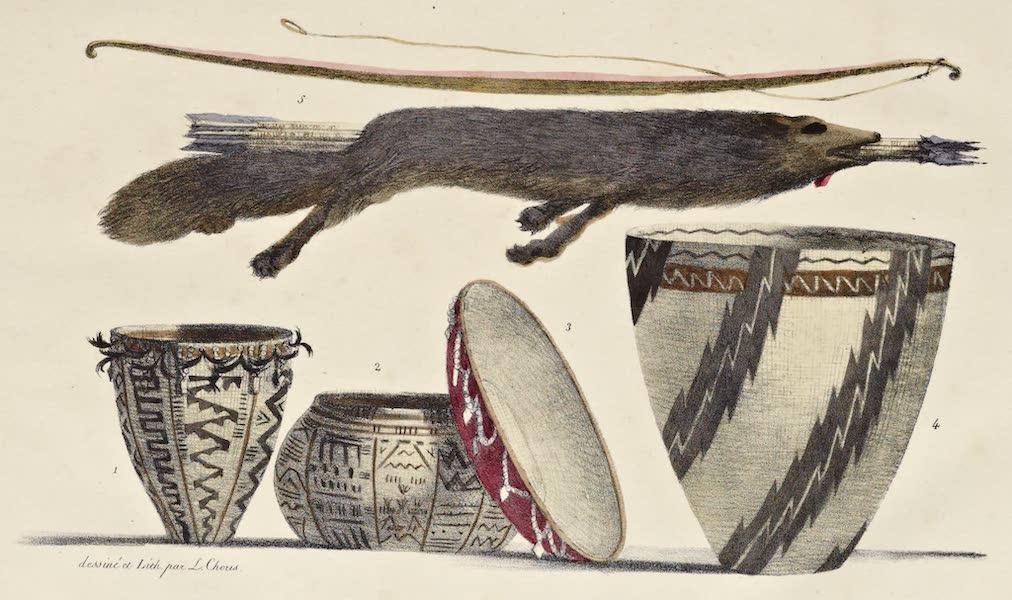 Voyage Pittoresque Autour de Monde - Armes et ustensiles de Californie. (1822)