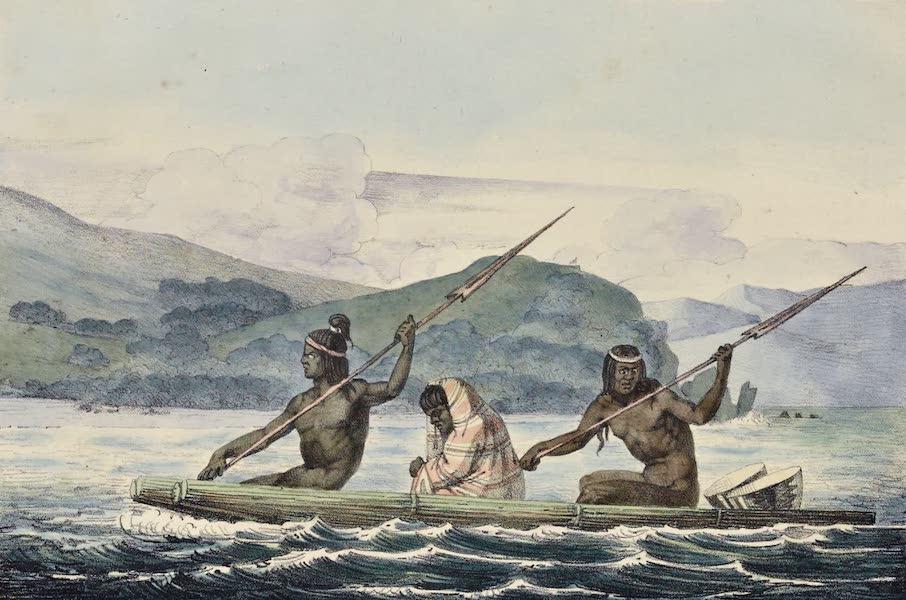 Voyage Pittoresque Autour de Monde - Bateau du port de San Francisco (1822)