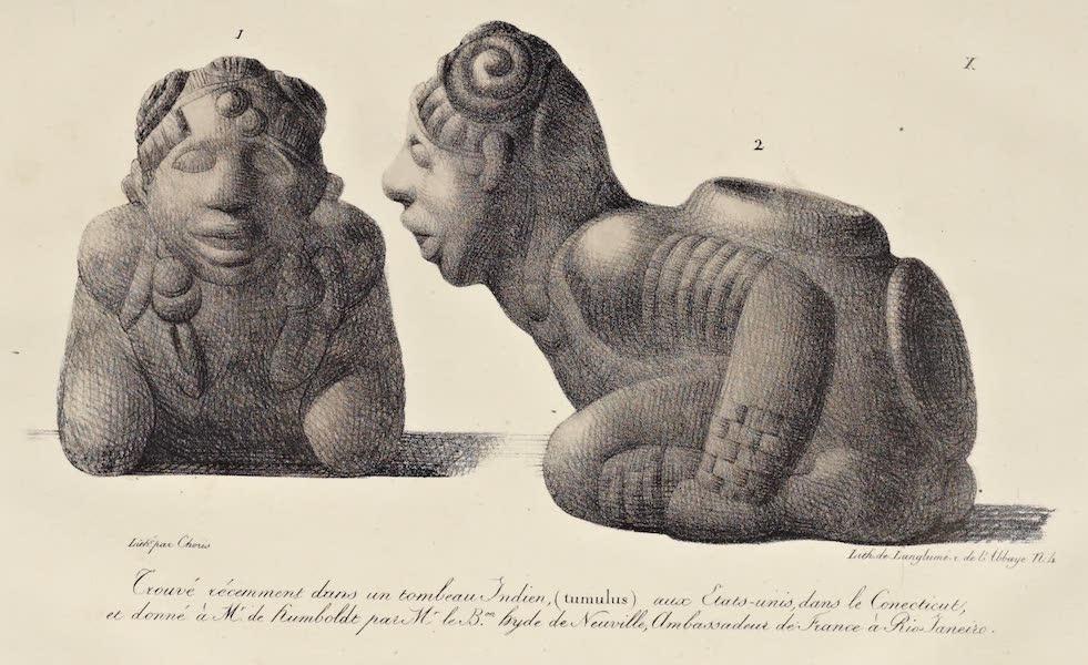 Voyage Pittoresque Autour de Monde - Trouve recemment dans un tombeau Indien aux Etats-unis, dans le Conecticut (1822)