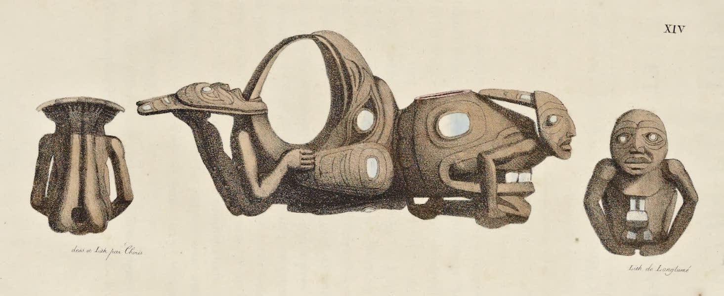 Voyage Pittoresque Autour de Monde - Pipe des isles de la Reine Charlotte a la Cote Nord ouest d'Amerique (1822)