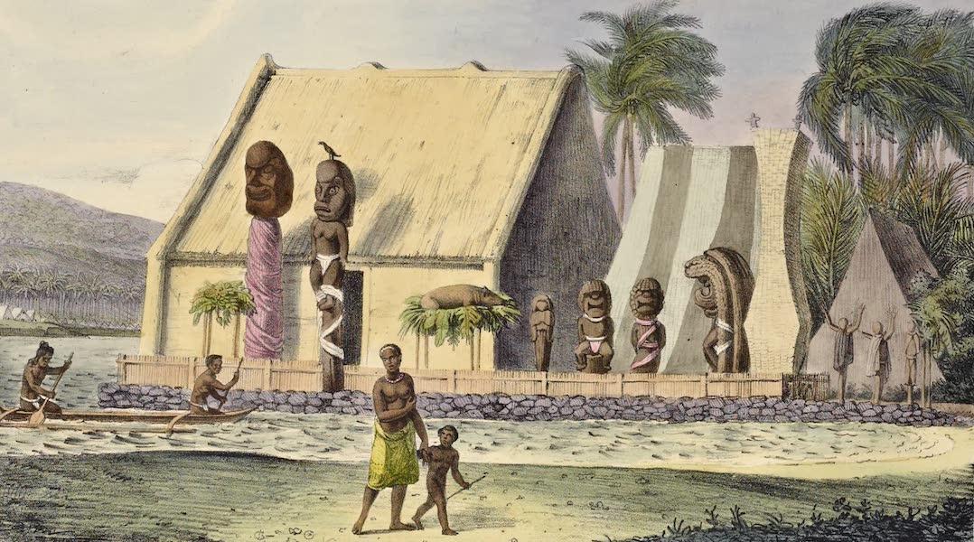 Voyage Pittoresque Autour de Monde - Temple du Roi dans la baie Tiritatea (1822)