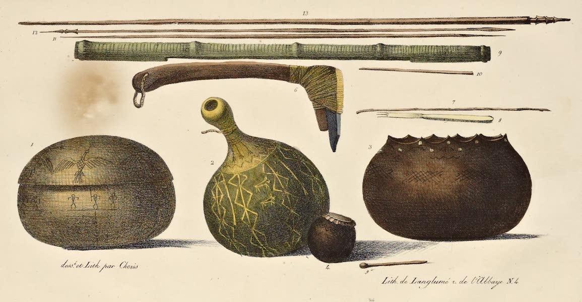 Voyage Pittoresque Autour de Monde - Armes et ustensiles des isles Sandwich (1822)